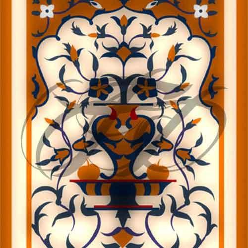 Decorative Motif Fresco Work 010