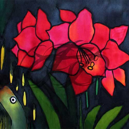 Red Flower Silk 015