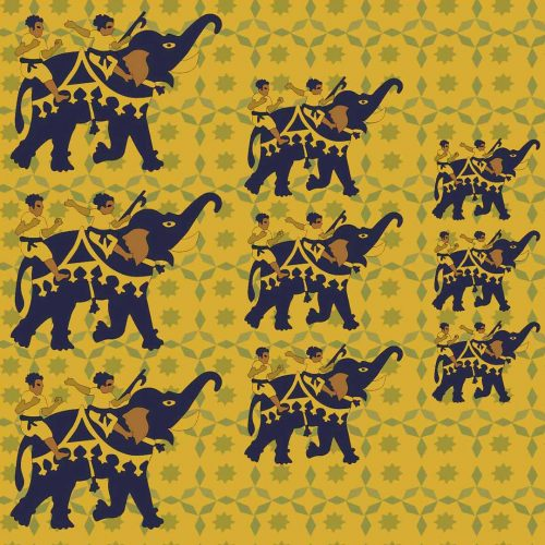 Elephants-Fight-Fariha's-Textile-Design-2nd-Mockup-For-Web-Closeup