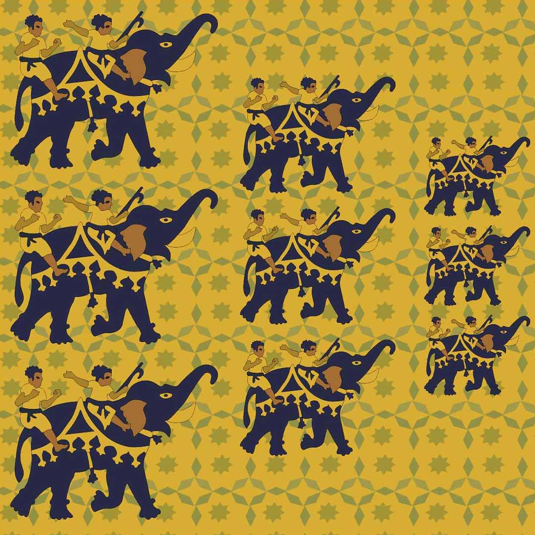 Elephants-Fight-Fariha's-Textile-Design-2nd-Mockup-For-Web-Closeup