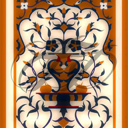 Decorative Motif Fresco Work 010