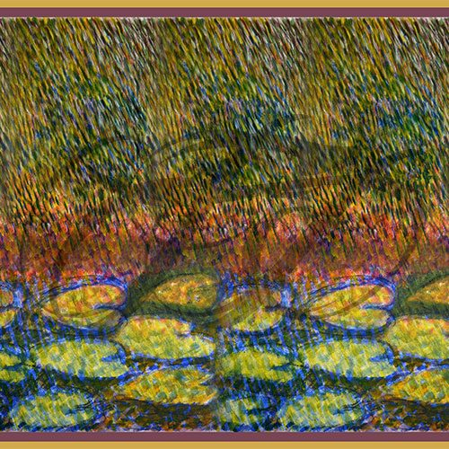 Rainfall with Water Lilies 021
