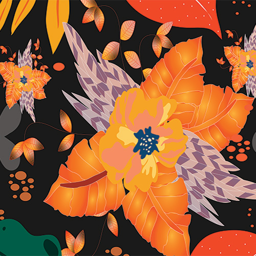 Orange-Crystal-Fariha's-Textile-Design-1st-Mockup-for-Web-Full